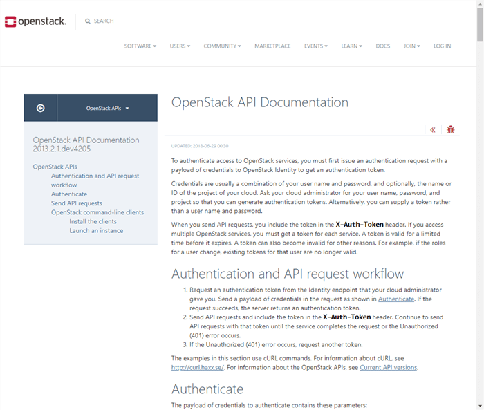 OpenStack API Documentation